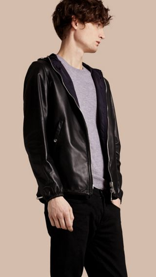 Reversible Lambskin Jacket with Hood