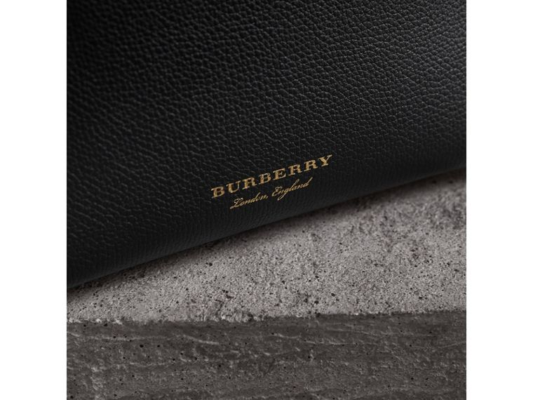 The Baby Banner in Leather and House Check in Black/tan - Women | Burberry - cell image 1