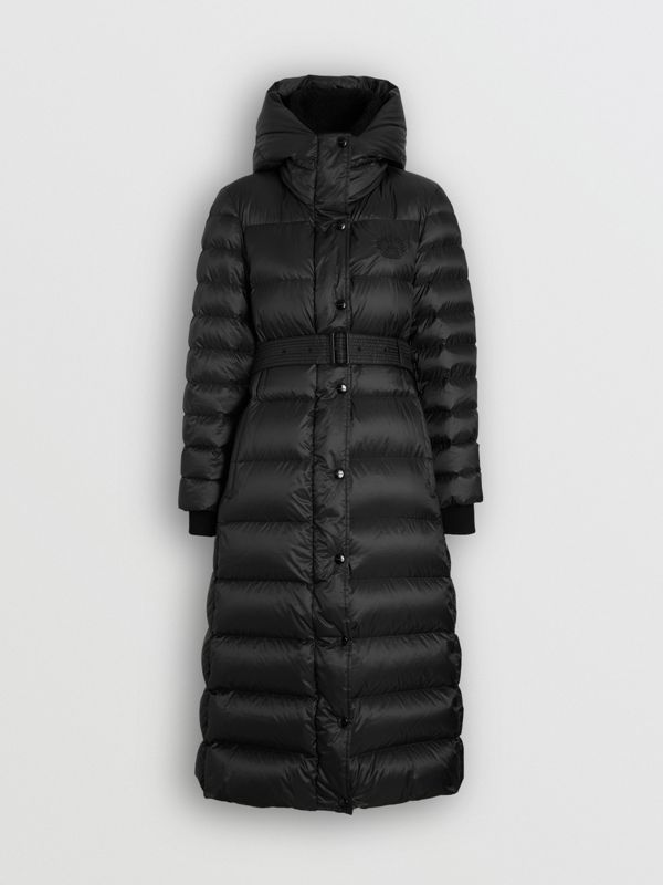 Down-filled Hooded Puffer Coat in Black - Women | Burberry Canada - cell image 3