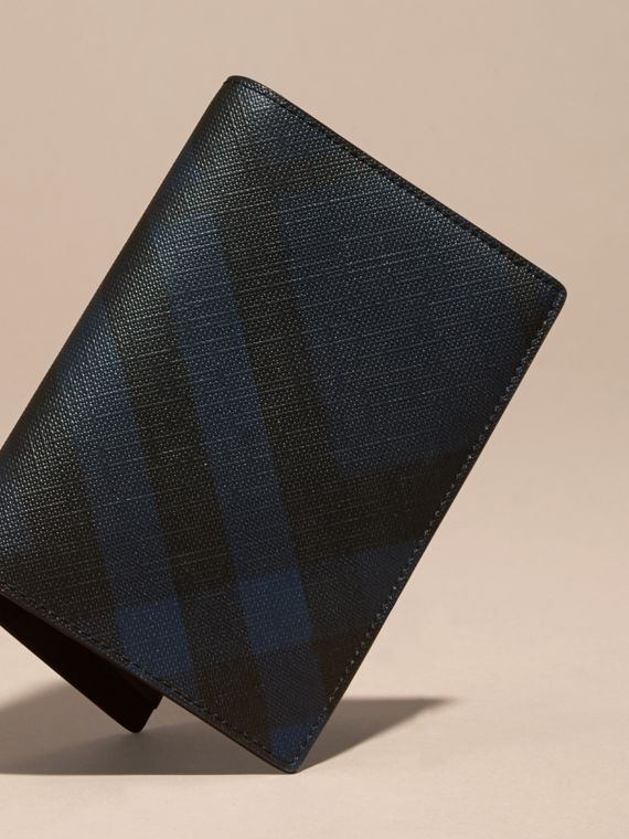 Navy/black London Check Passport Cover Navy/black - cell image 2
