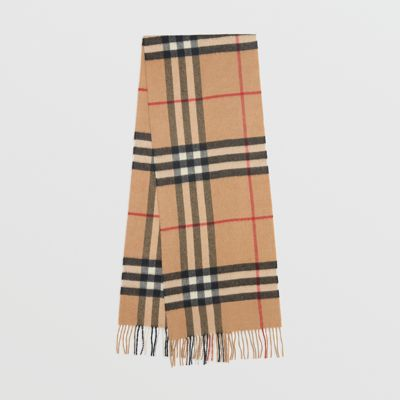 The Classic Check Cashmere Scarf in Camel  ec6f18576b306