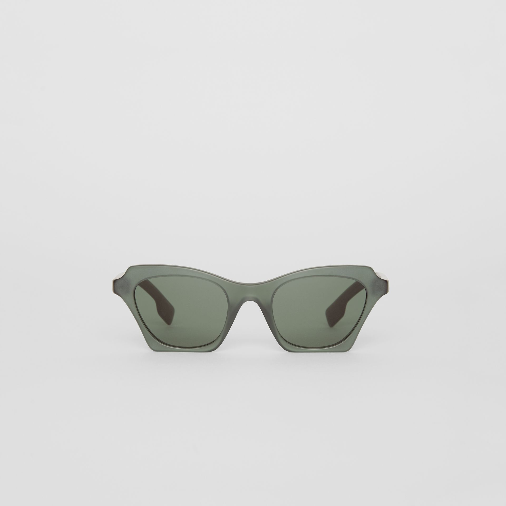 Butterfly Frame Sunglasses in Green - Women | Burberry - gallery image 0