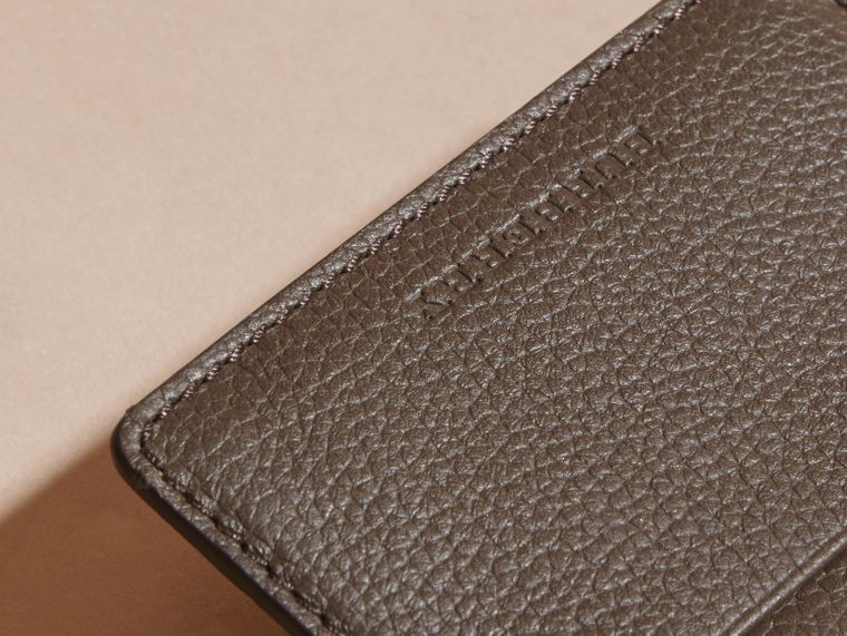 Deep taupe brown Grainy London Leather Card Case Deep Taupe Brown - cell image 1