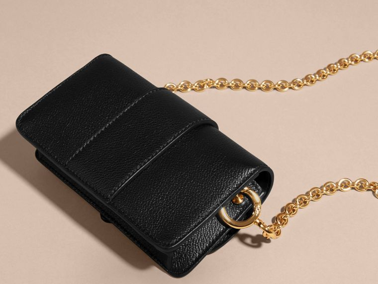 The Mini Buckle Bag in Grainy Leather Black - cell image 4