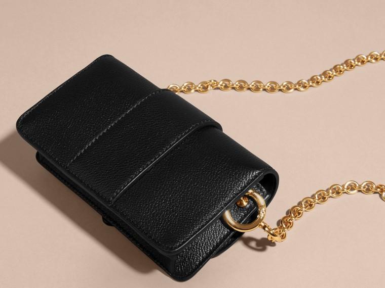 Mini sac The Buckle en cuir grainé Noir - cell image 4