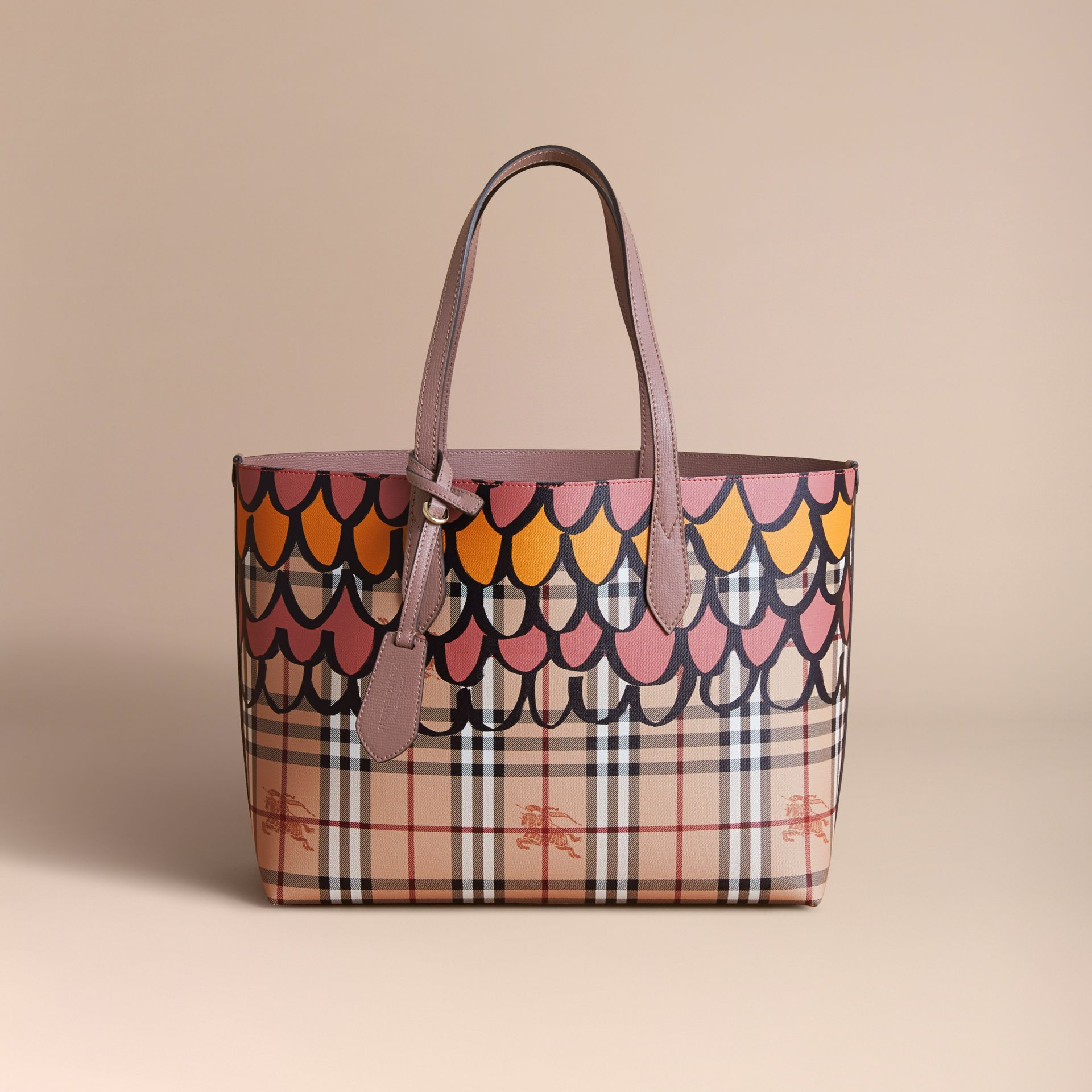The Medium Reversible Tote in Trompe L'oeil Print - gallery image 8