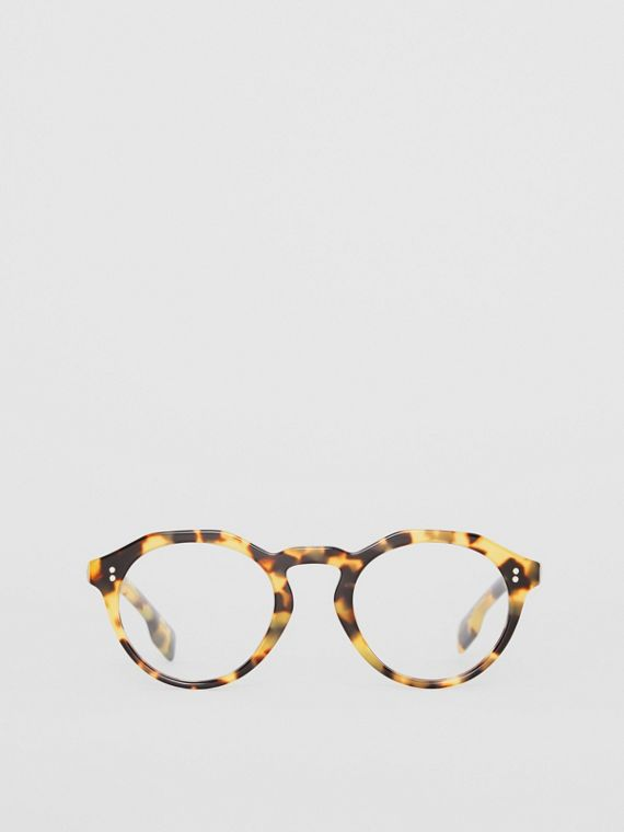 Keyhole Round Optical Frames in Tortoise Shell