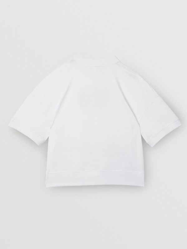 Montage Print Cotton T-shirt in White | Burberry - cell image 3