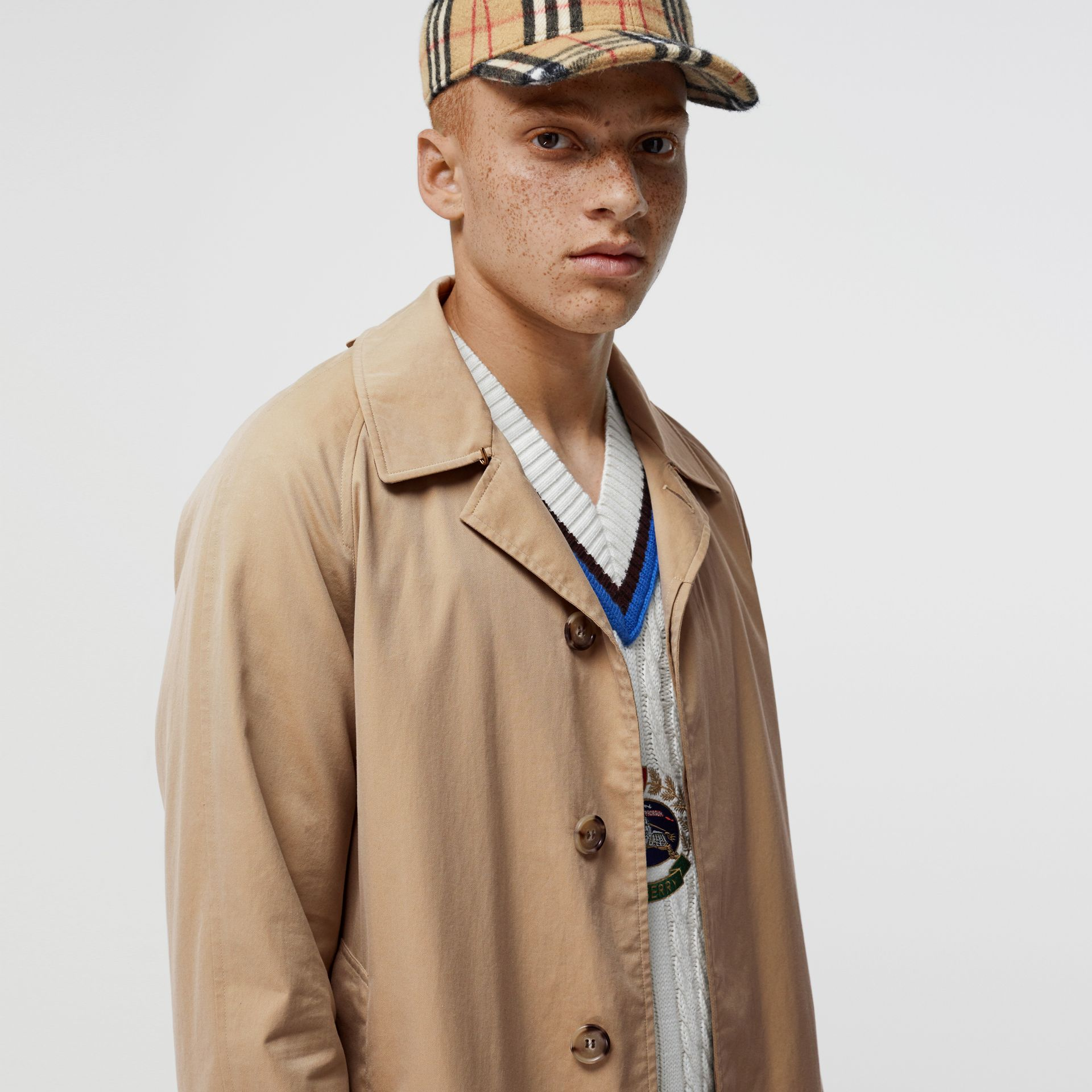 The Camden Car Coat in Honey - Men | Burberry Singapore - gallery image 1