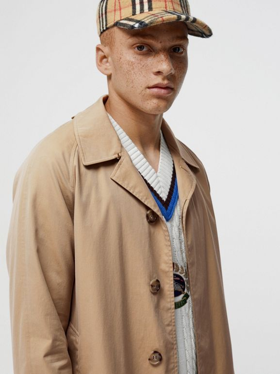 The Camden Car Coat in Honey - Men | Burberry Singapore - cell image 1
