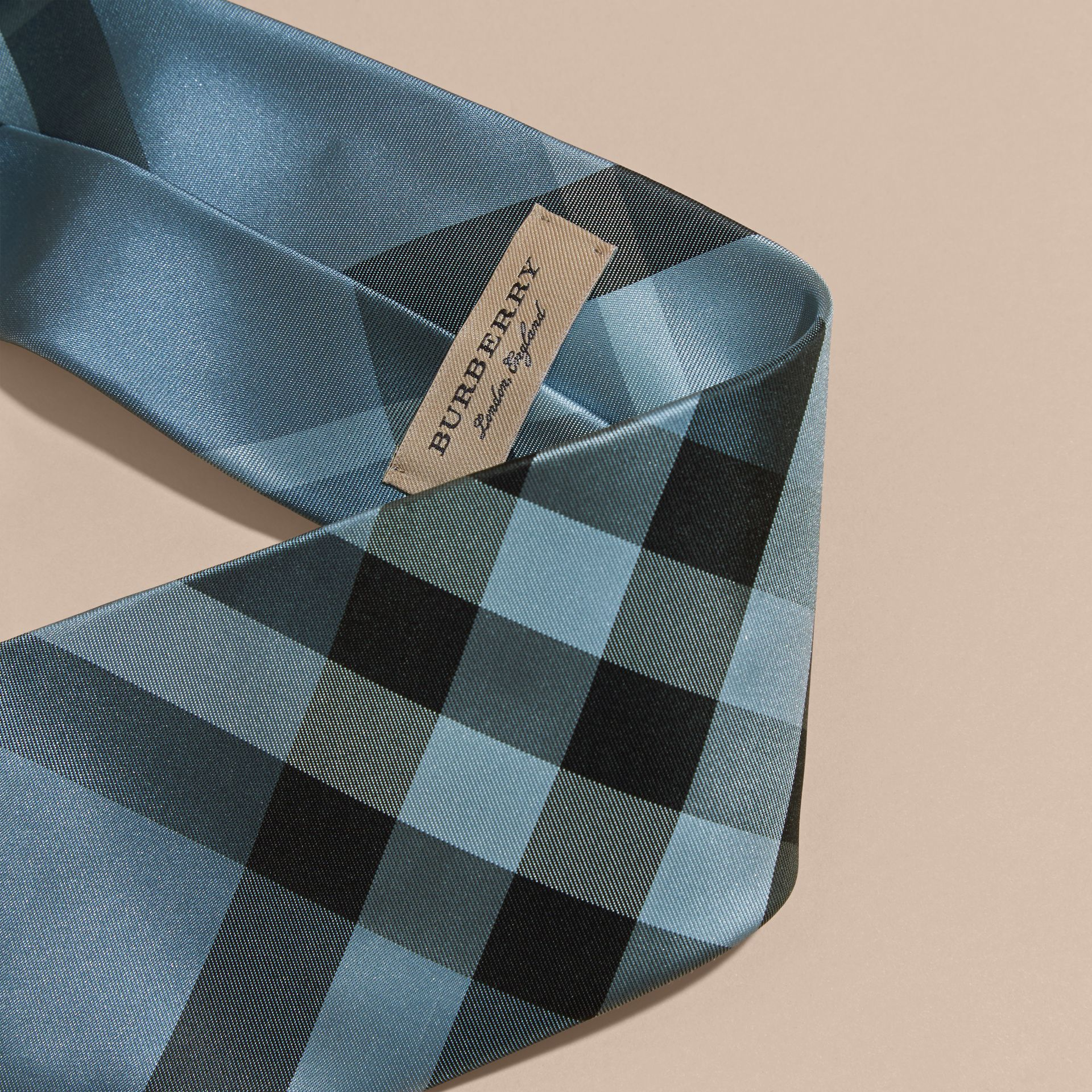 Classic Cut Check Silk Tie in Light Blue - Men | Burberry - gallery image 2