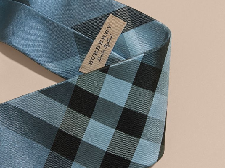 Classic Cut Check Silk Tie in Light Blue - Men | Burberry - cell image 1