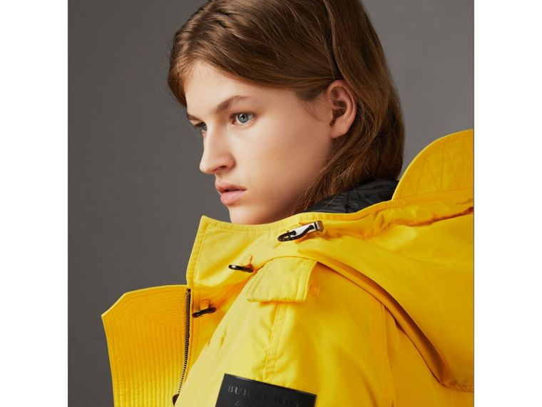 Technical Taffeta Hooded Parka in Bright Yellow - Women | Burberry United Kingdom - cell image 1