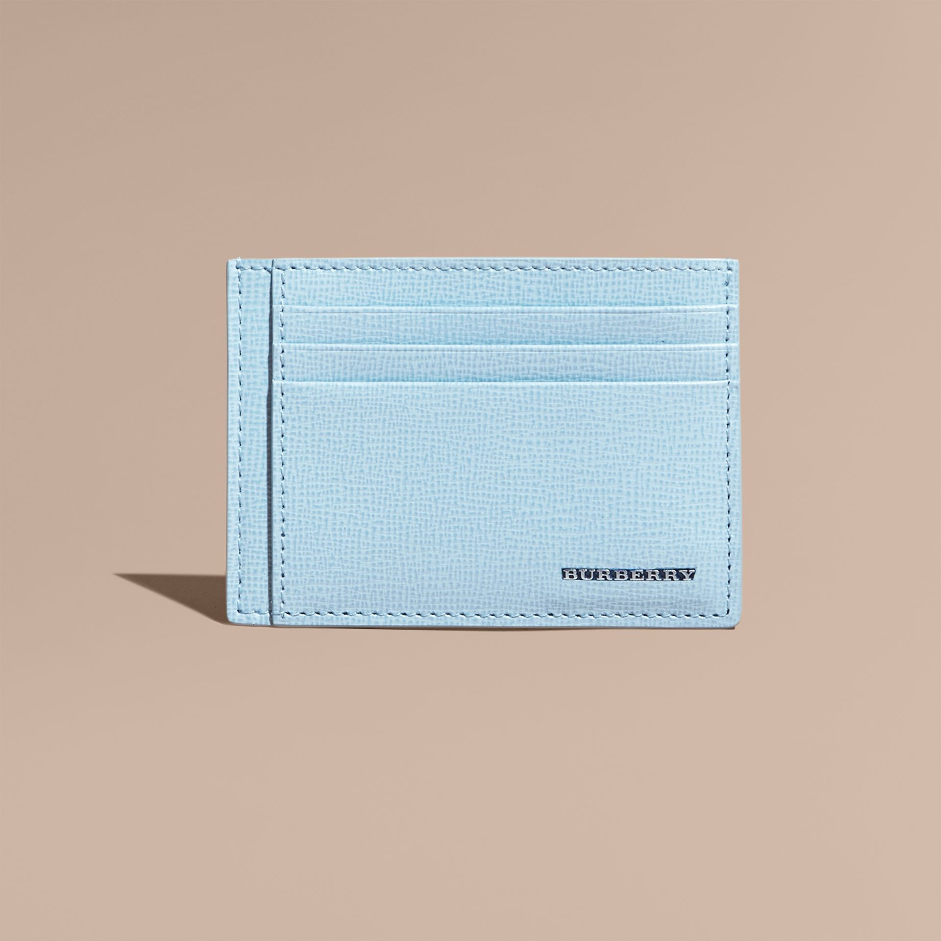 London Leather Card Case Powder Blue - gallery image 2