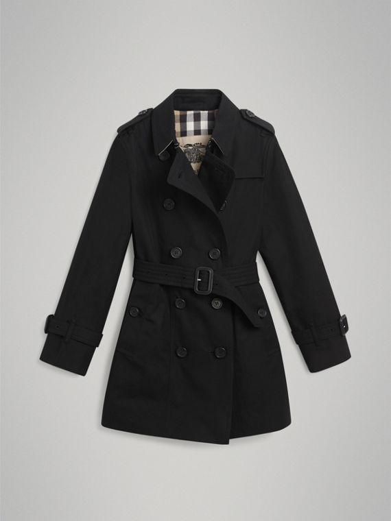 The Sandringham Trench Coat in Black - Girl | Burberry - cell image 3