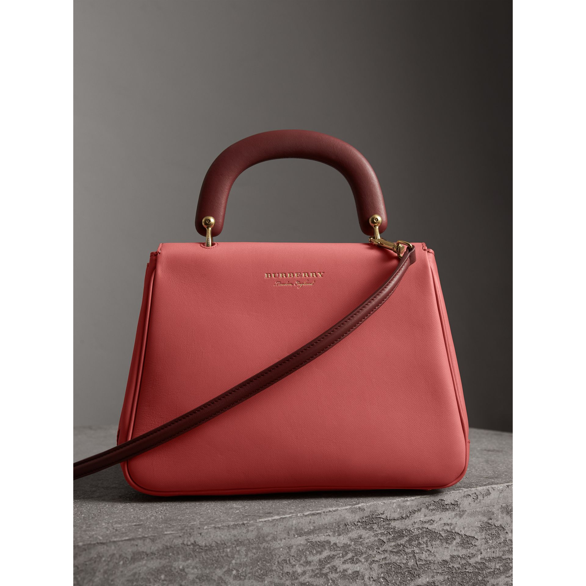 The Medium DK88 Top Handle Bag in Blossom Pink - Women | Burberry United Kingdom - gallery image 2