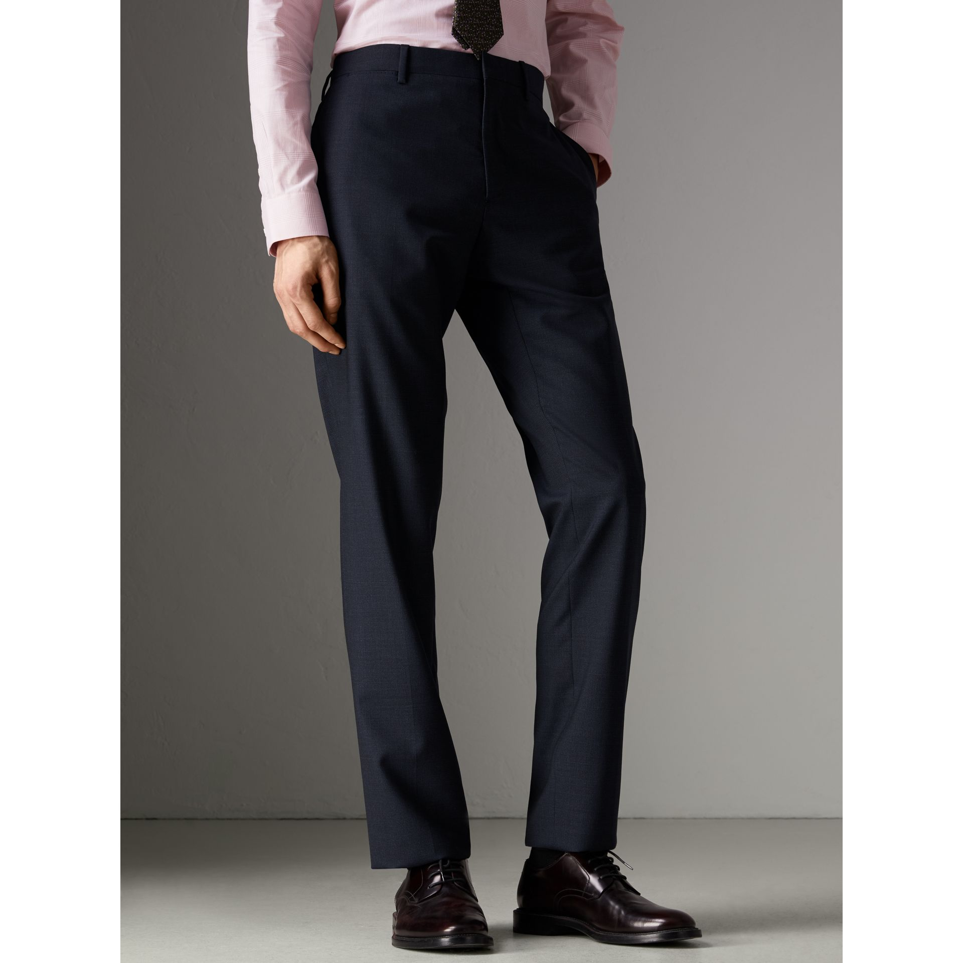 Modern Fit Wool Suit in Navy - Men | Burberry United States - gallery image 7