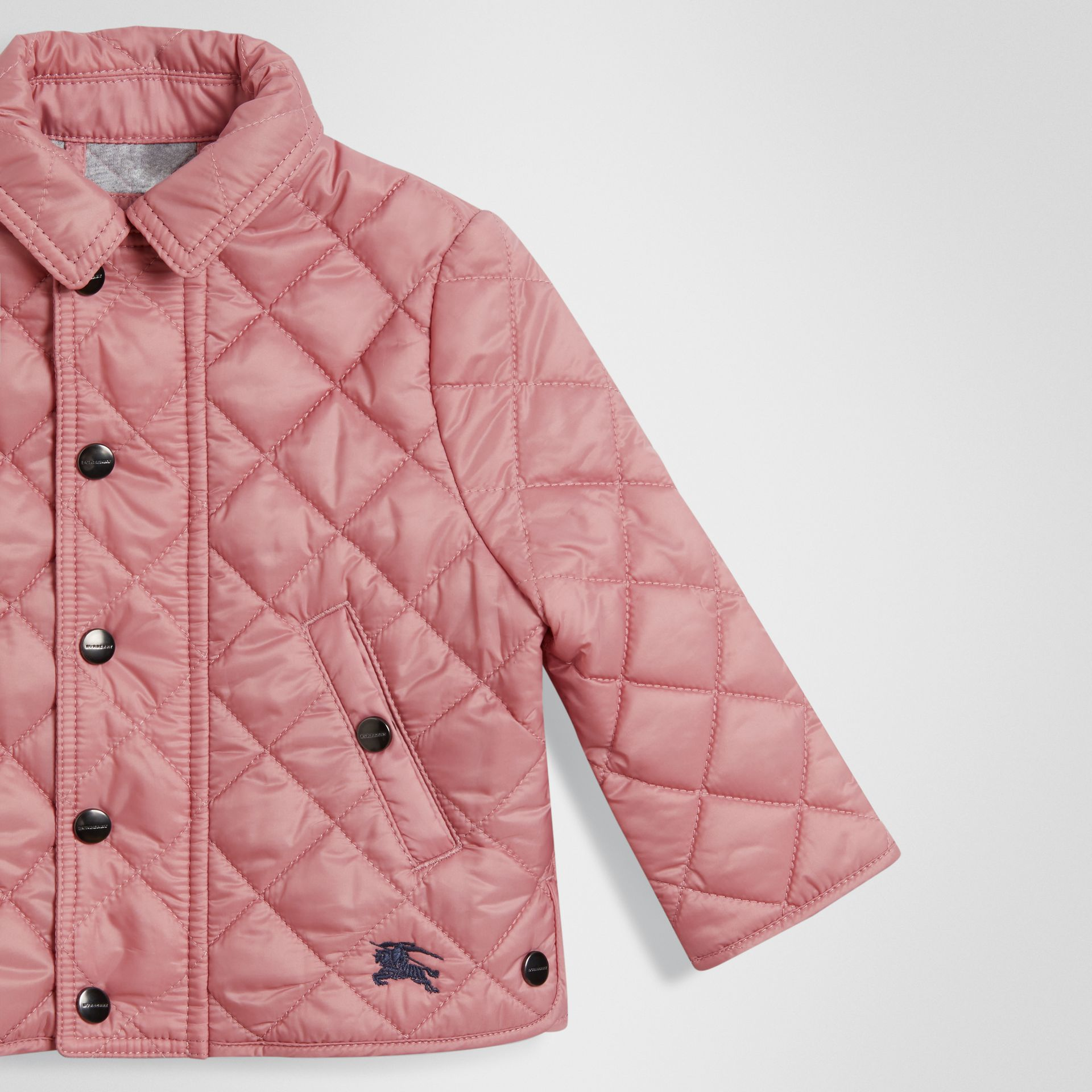 Lightweight Diamond Quilted Jacket in Pale Ash Rose - Children | Burberry - gallery image 4