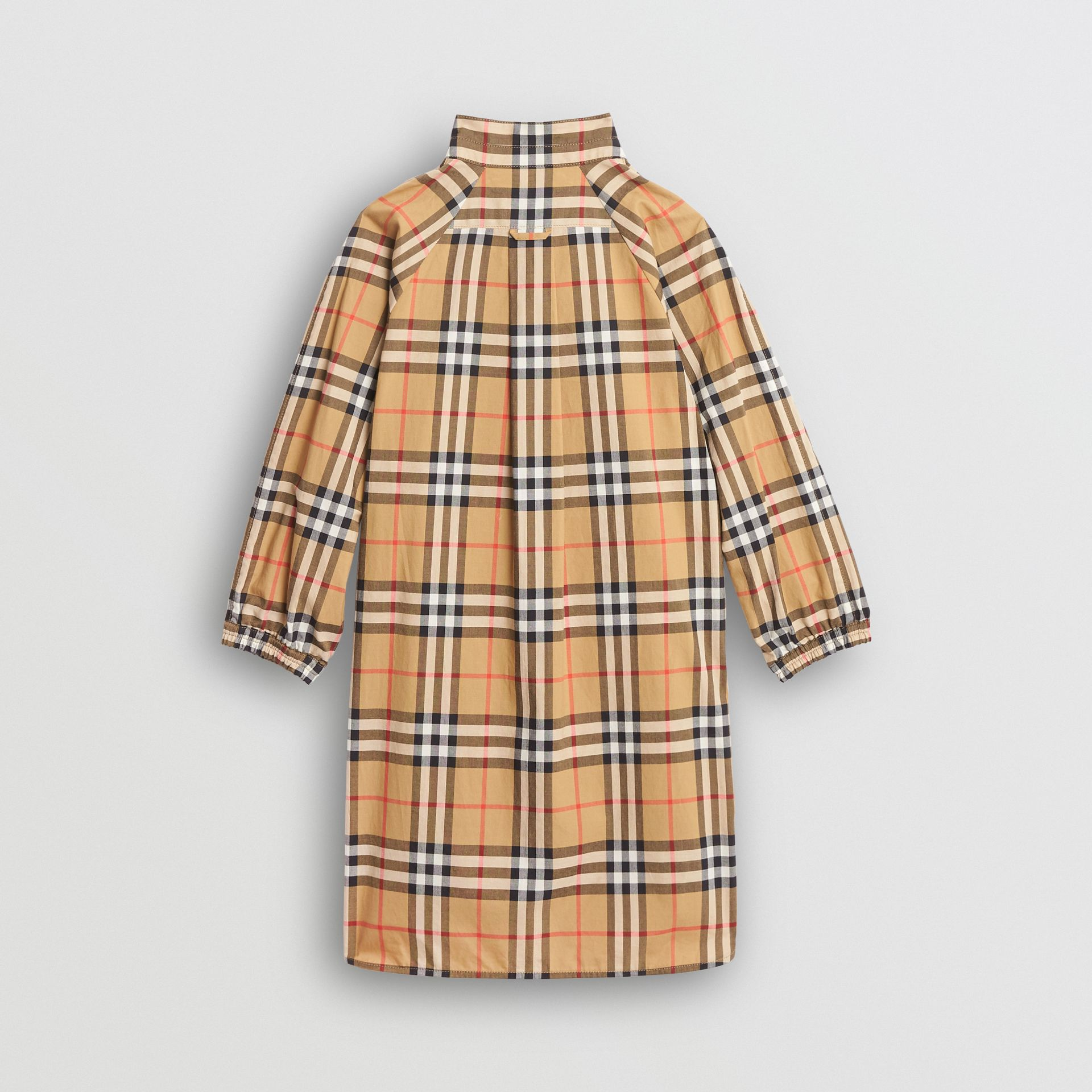 Vintage Check Cotton Shirt Dress in Antique Yellow | Burberry - gallery image 4