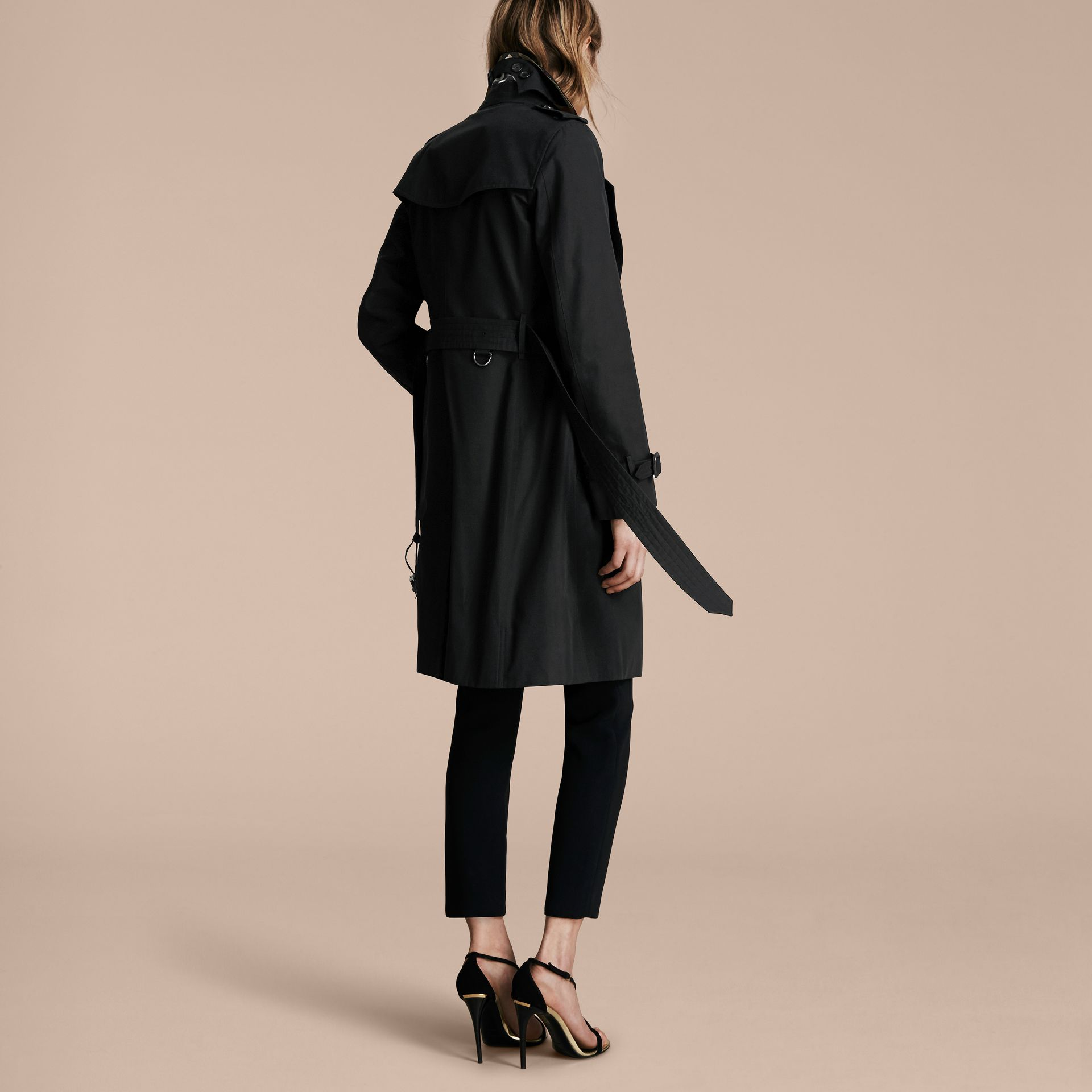 Black The Kensington – Long Heritage Trench Coat Black - gallery image 3