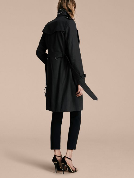 Black The Kensington – Long Heritage Trench Coat Black - cell image 2