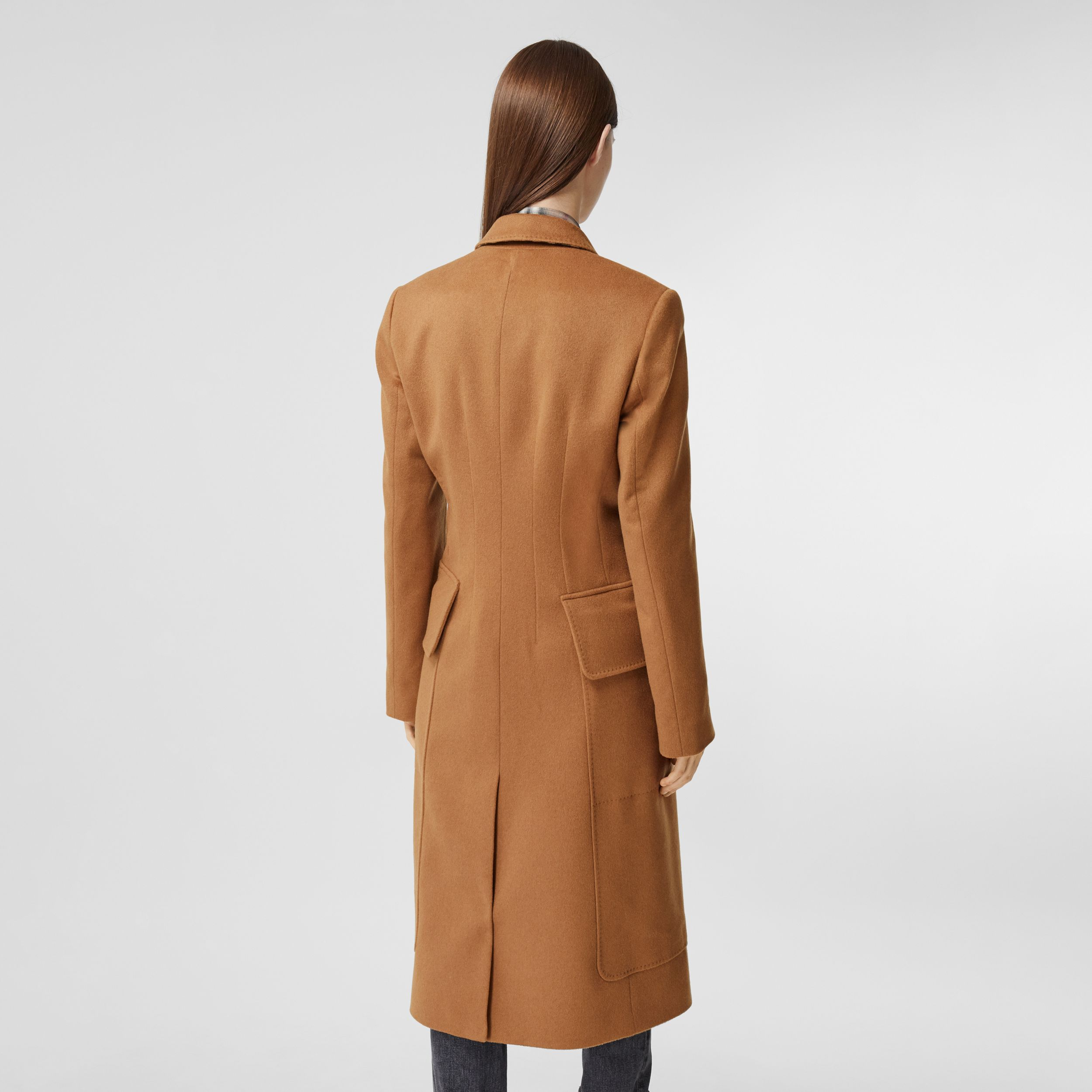 Cashmere Tailored Coat in Bronze - Women | Burberry Australia - 3