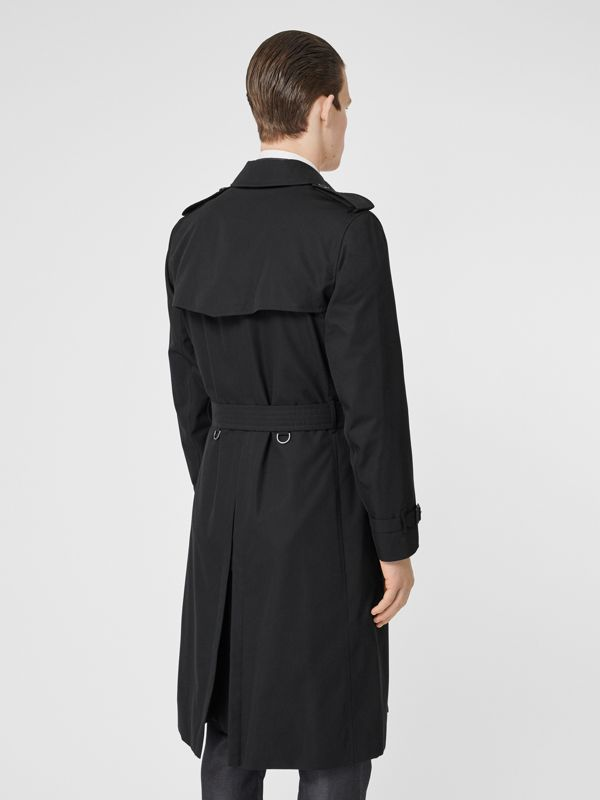 The Long Kensington Heritage Trench Coat in Black - Men | Burberry United Kingdom - cell image 2