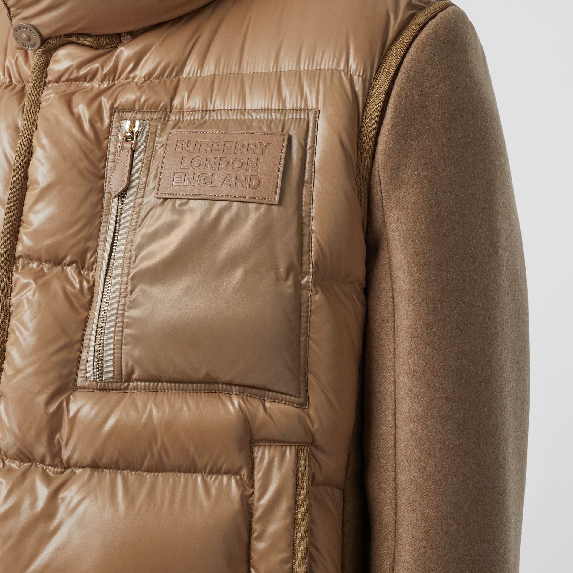 Down-filled Gilet Detail Camel Hair Tailored Coat - Men | Burberry United States - gallery image 1