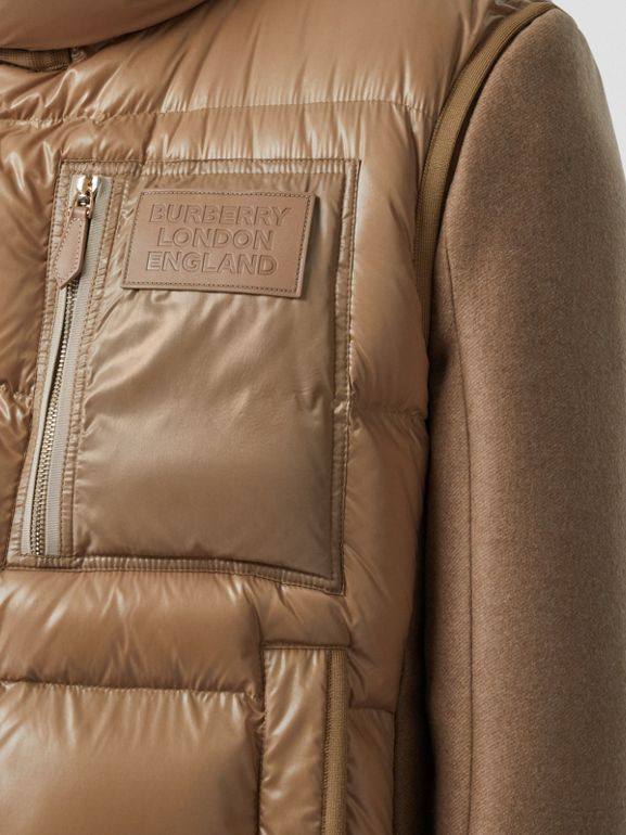 Down-filled Gilet Detail Camel Hair Tailored Coat - Men | Burberry - cell image 1