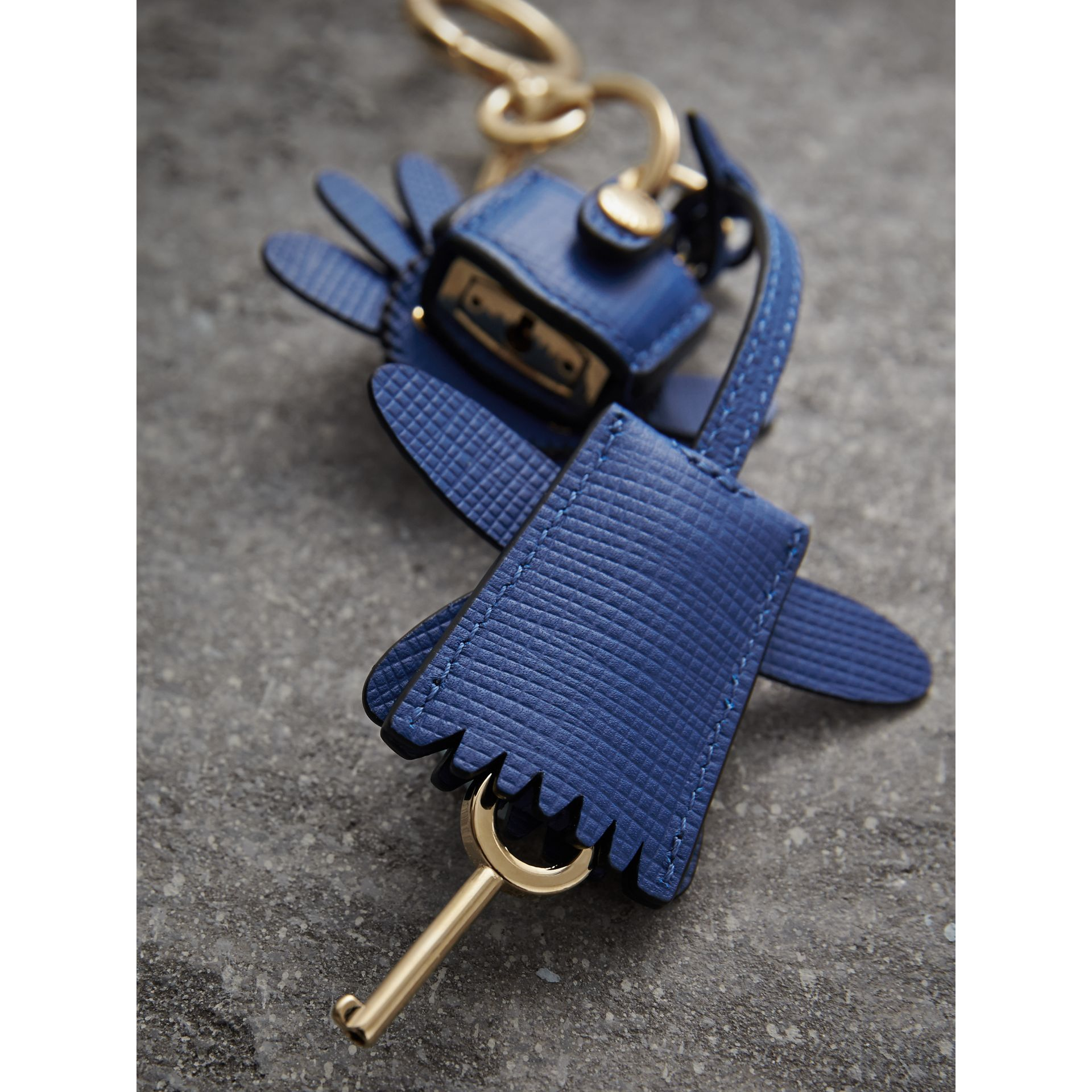 Beasts Leather Key Charm and Padlock in Cinnamon Red - Women | Burberry - gallery image 3