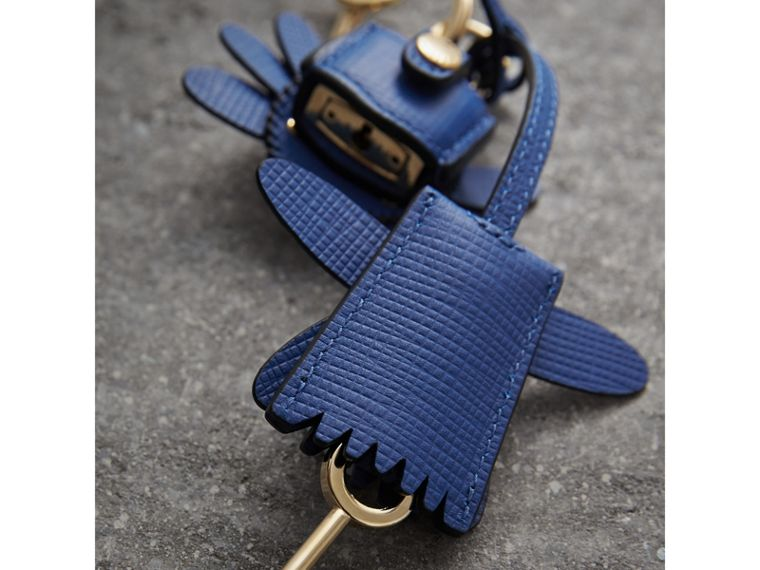 Beasts Leather Key Charm and Padlock in Cinnamon Red - Women | Burberry Canada - cell image 2