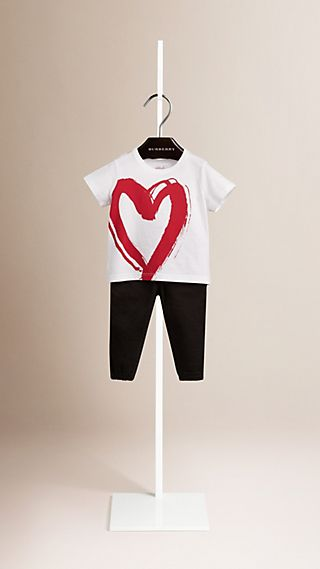 Heart Graphic Cotton T-shirt