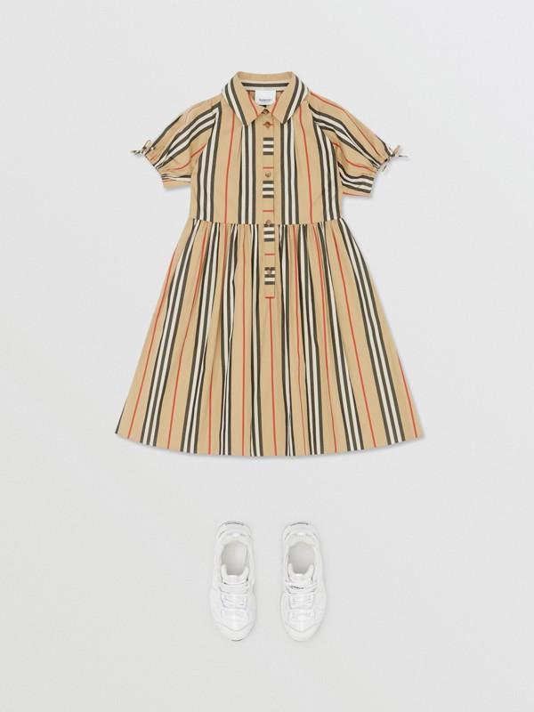 Icon Stripe Cotton Poplin Dress in Archive Beige | Burberry United Kingdom - cell image 2