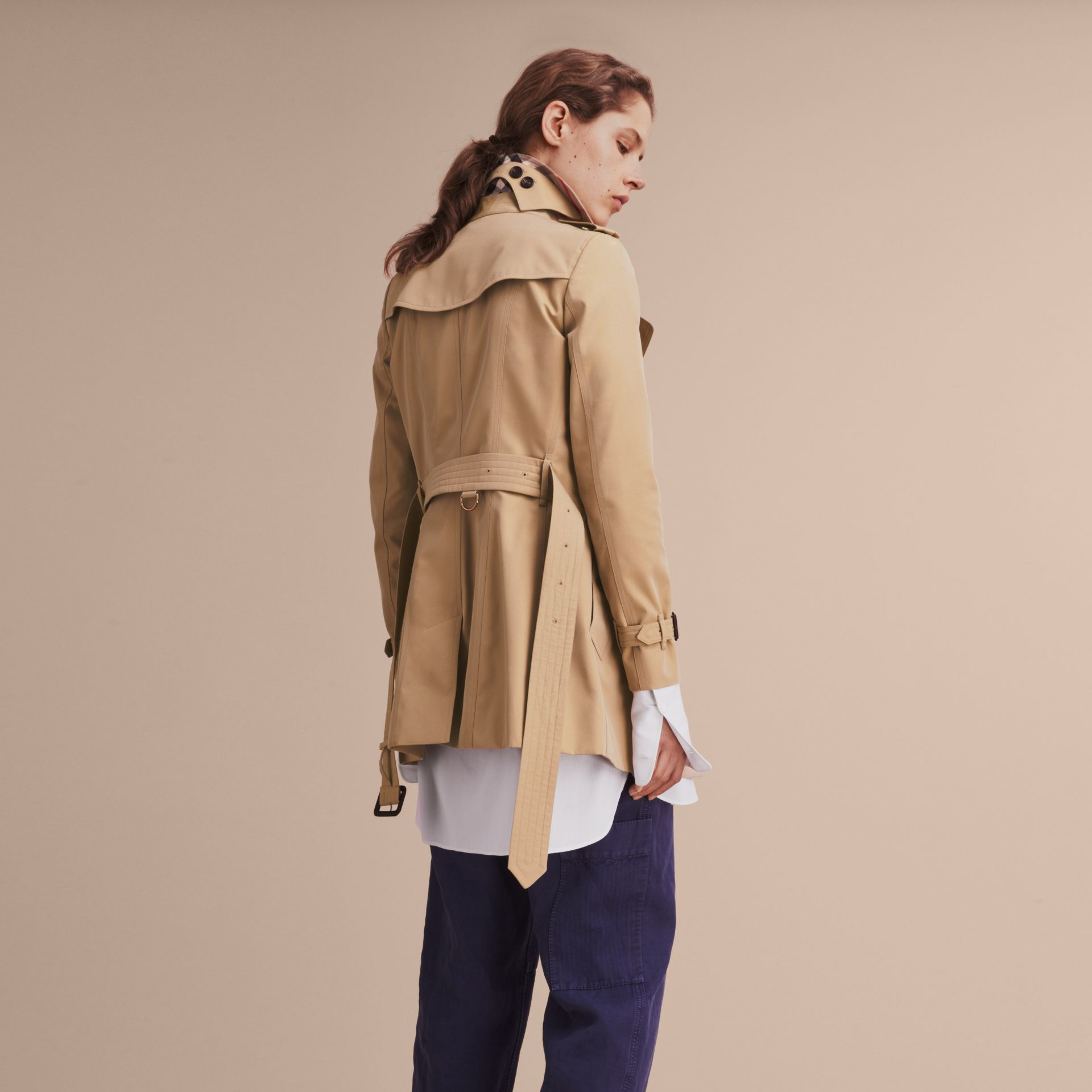Honey The Chelsea – Short Heritage Trench Coat Honey - gallery image 4