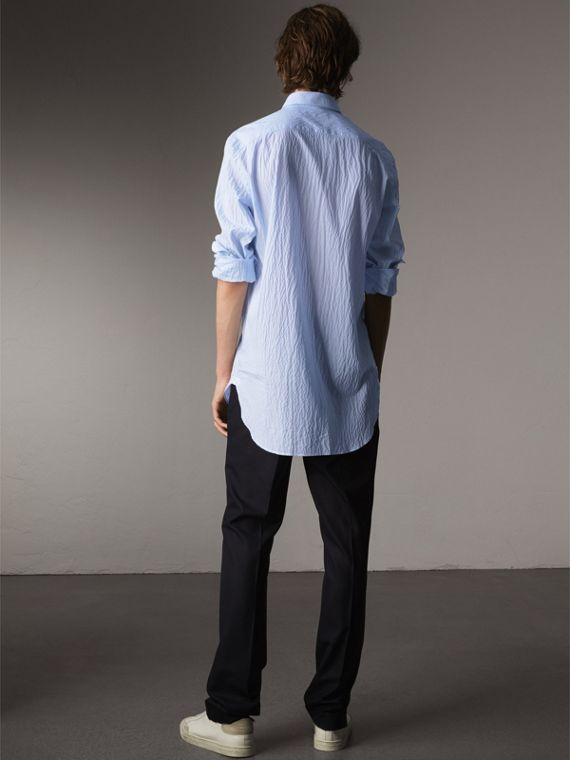 Striped Seersucker Stretch Cotton Shirt - Men | Burberry - cell image 2
