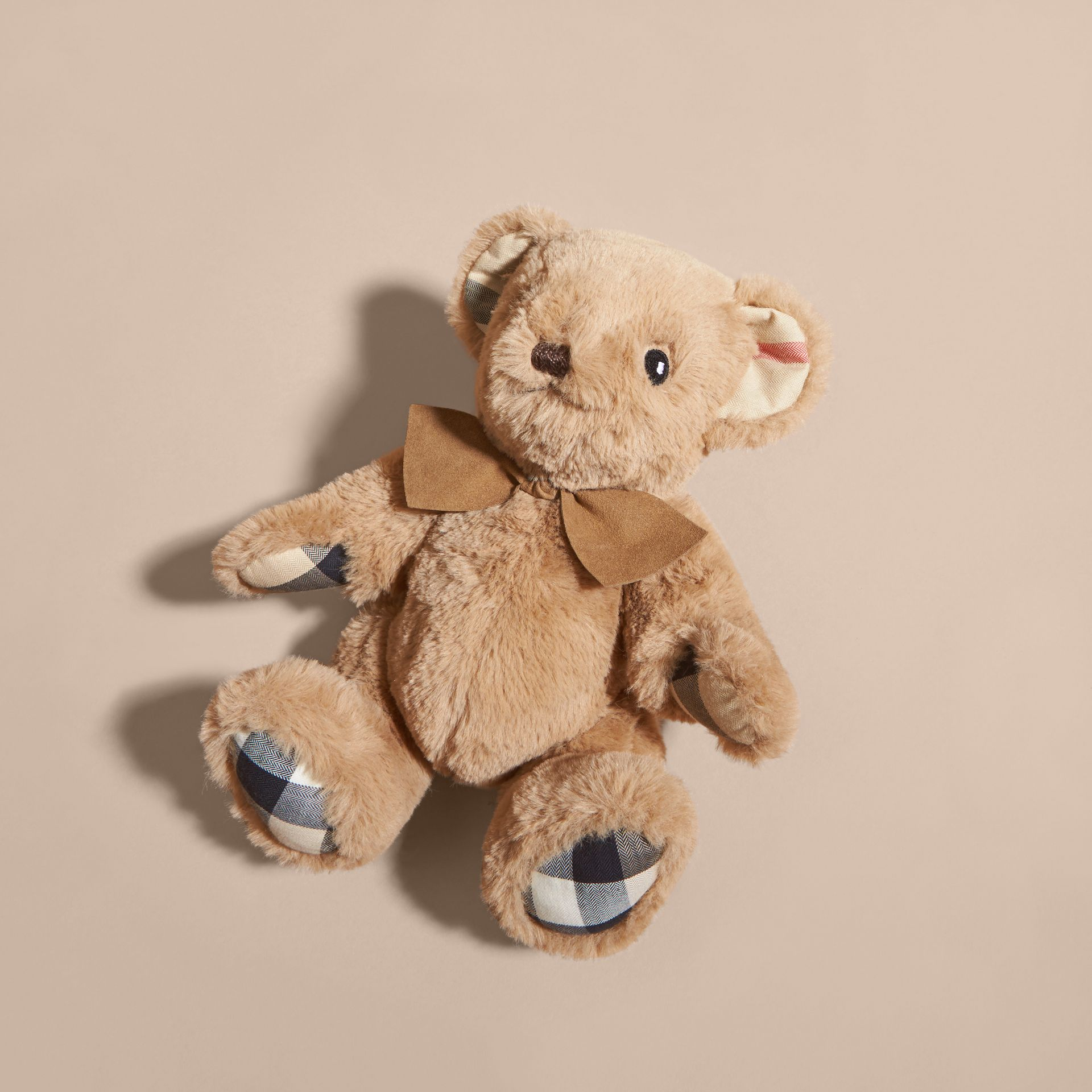 Thomas Baby Bear with Check Detail in Camel | Burberry - gallery image 3