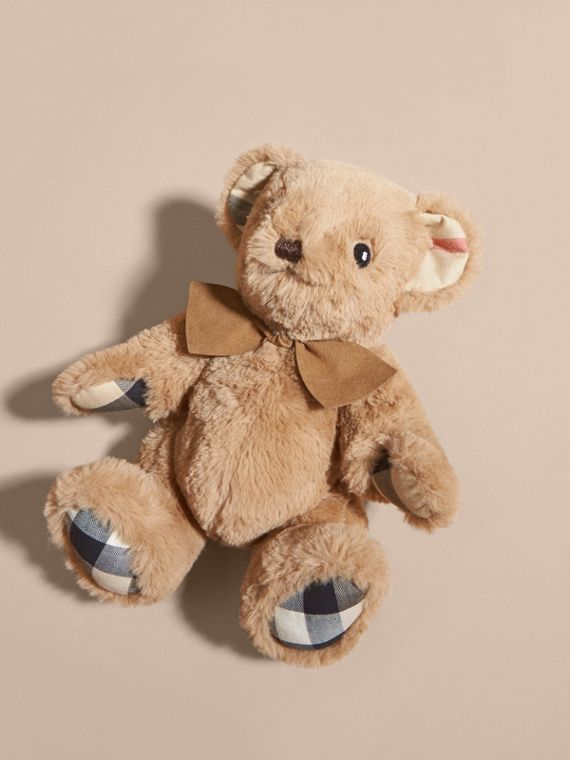 Thomas Baby Bear with Check Detail in Camel | Burberry - cell image 2