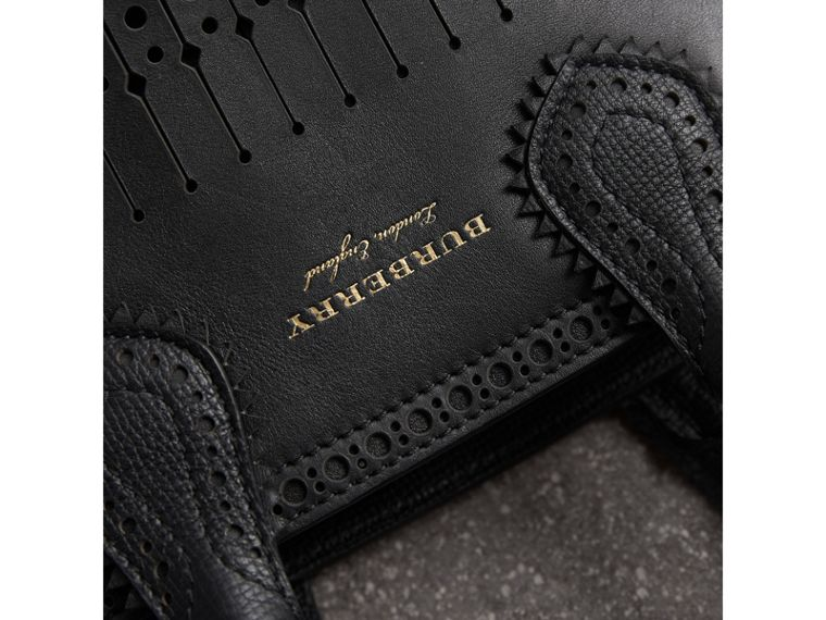 The Small Banner with Brogue Detail in Black - Women | Burberry - cell image 1