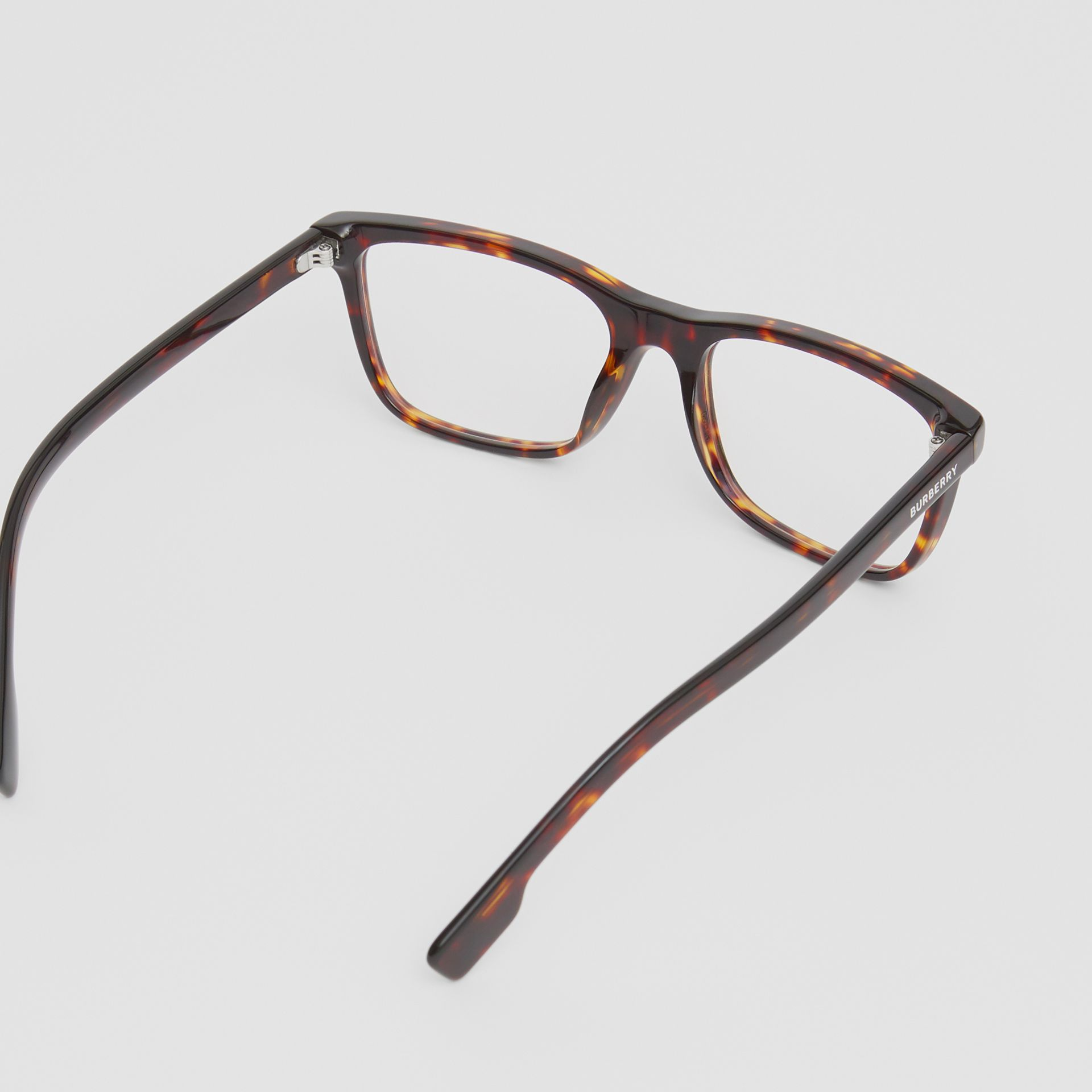 Rectangular Optical Frames in Tortoiseshell - Men | Burberry United Kingdom - gallery image 4