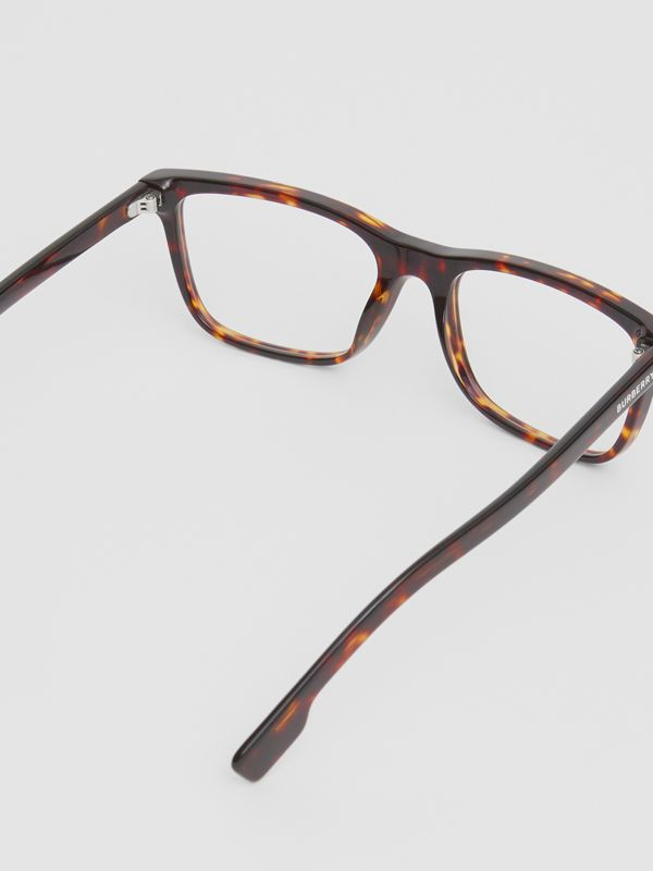 Rectangular Optical Frames in Tortoiseshell - Men | Burberry Singapore - cell image 3