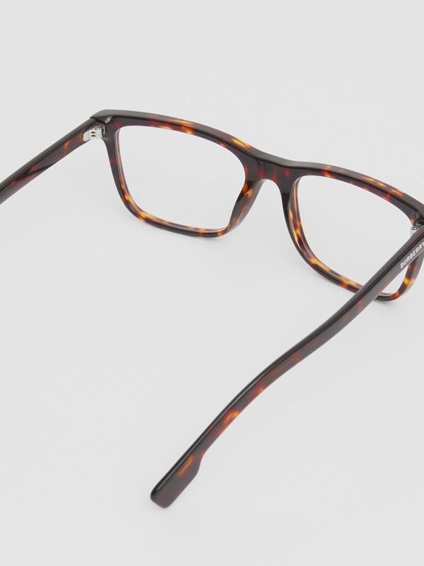 Rectangular Optical Frames in Tortoiseshell - Men | Burberry United Kingdom - cell image 3