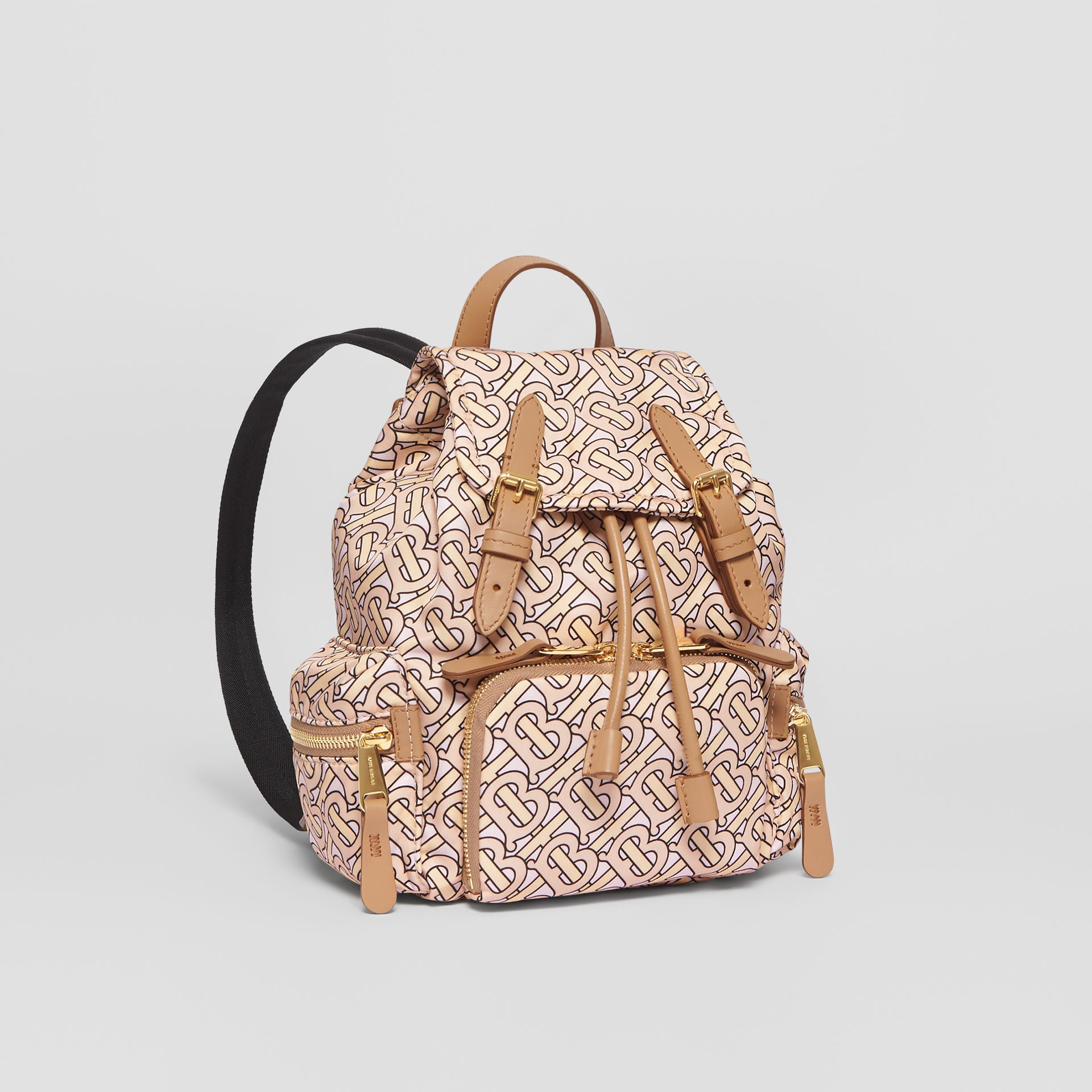 The Small Rucksack in Monogram Print Nylon in Blush - Women | Burberry United Kingdom - gallery image 4
