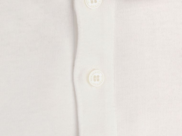 Check Collar Bodysuit in White | Burberry - cell image 1