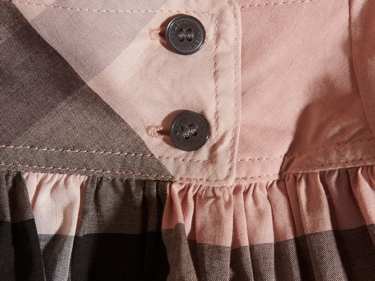 Antique pink Check Cotton Dress - cell image 1