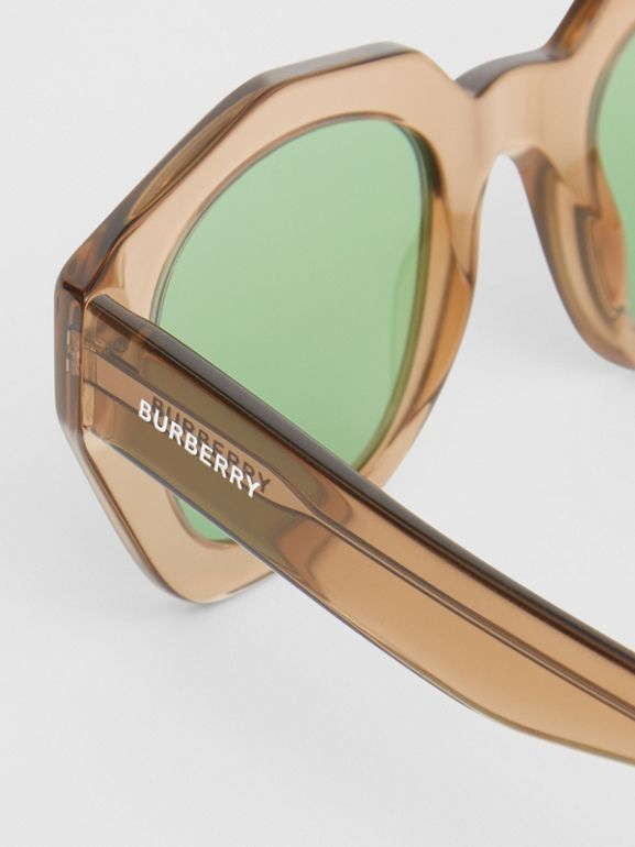Geometric Frame Sunglasses in Brown - Women | Burberry - cell image 1