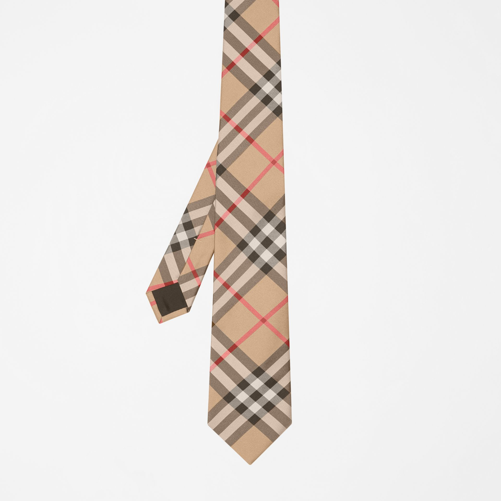 Modern Cut Vintage Check Silk Tie in Archive Beige - Men | Burberry - gallery image 4