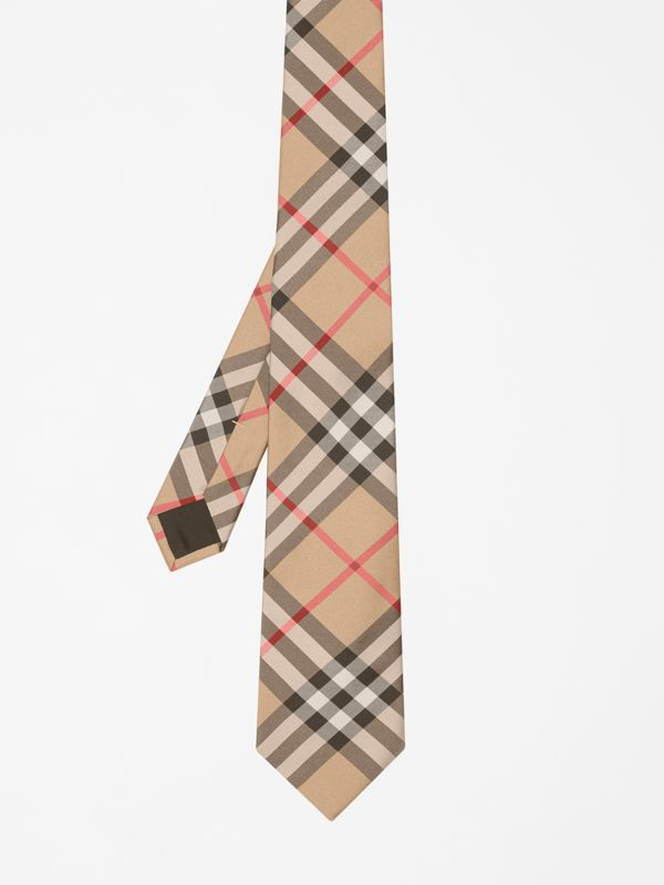 Modern Cut Vintage Check Silk Tie in Archive Beige - Men | Burberry Singapore - cell image 3