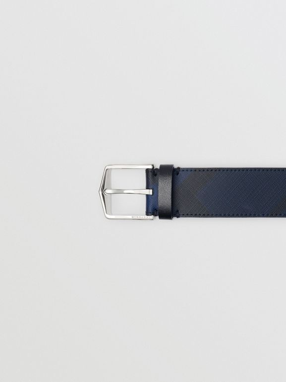 London Check Belt in Navy/black - Men | Burberry - cell image 1