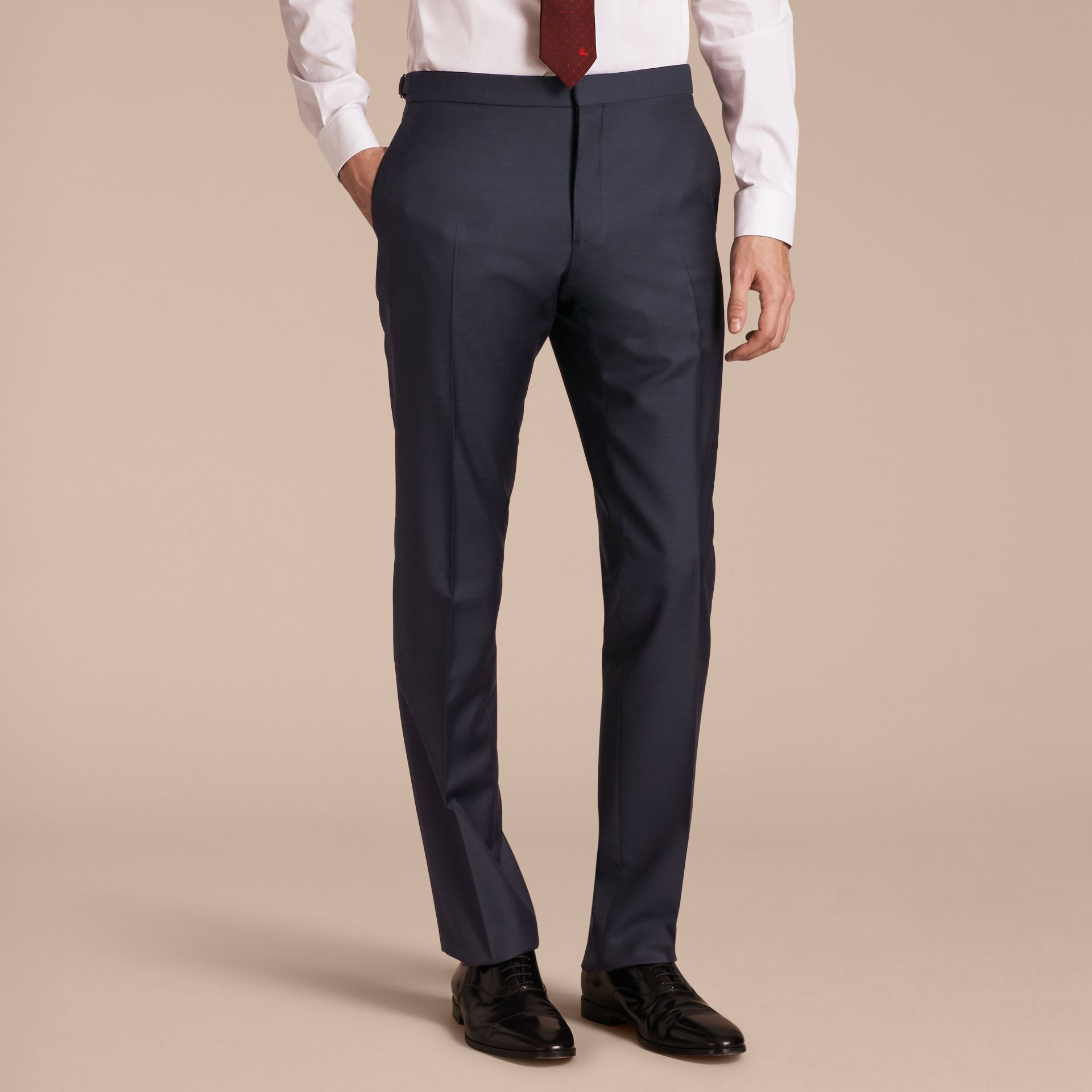 Modern Fit Wool Silk Full-canvas Suit - gallery image 9