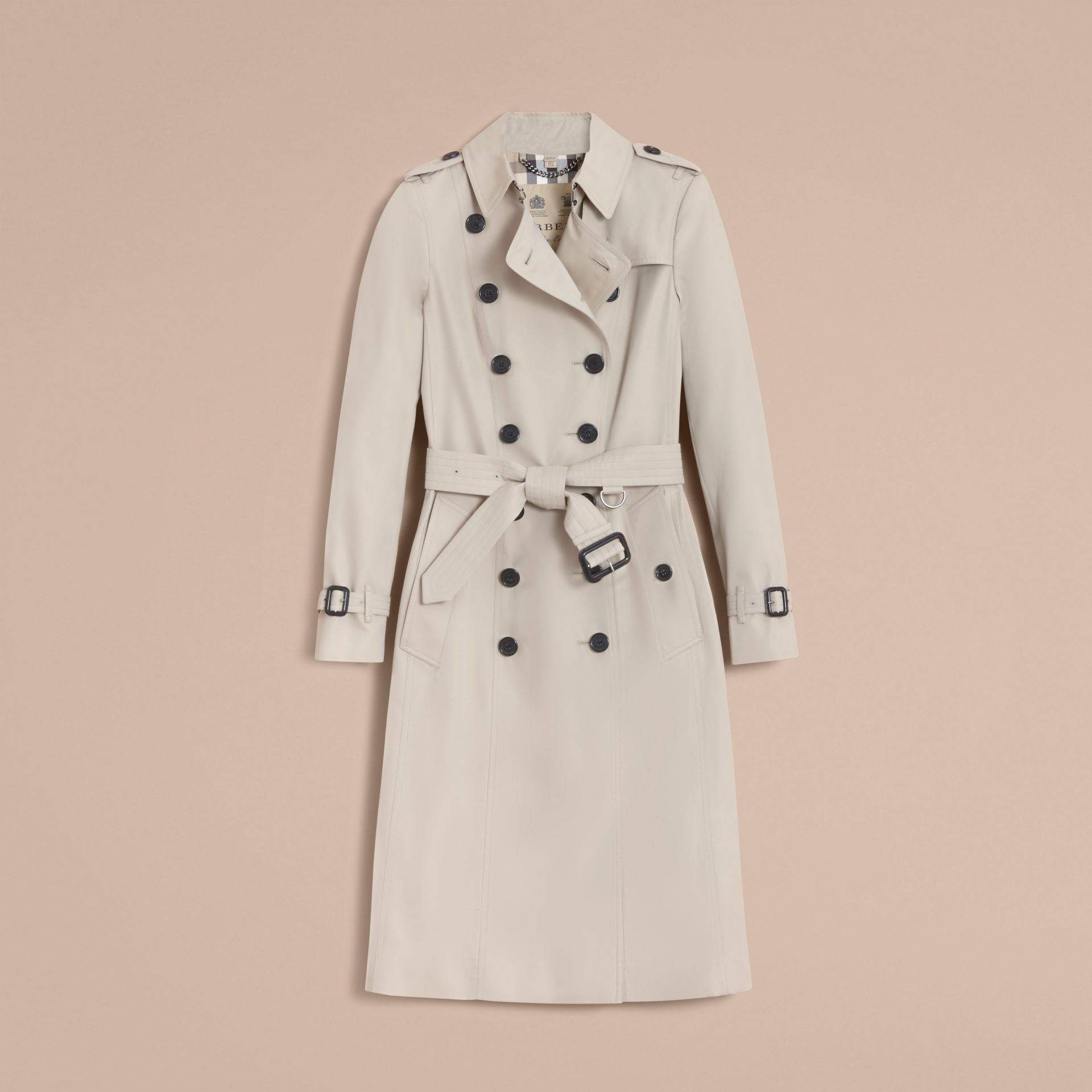 The Chelsea – Extra-long Heritage Trench Coat in Stone - gallery image 4